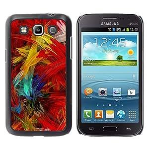 Caucho caso de Shell duro de la cubierta de accesorios de protección BY RAYDREAMMM - Samsung Galaxy Win I8550 I8552 Grand Quattro - Paint Brush Colorful Artwork Oil Modern