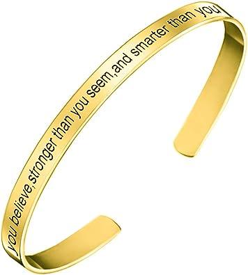 Womens Trendy Fashion I Love You Engraved Bracelet Bangle