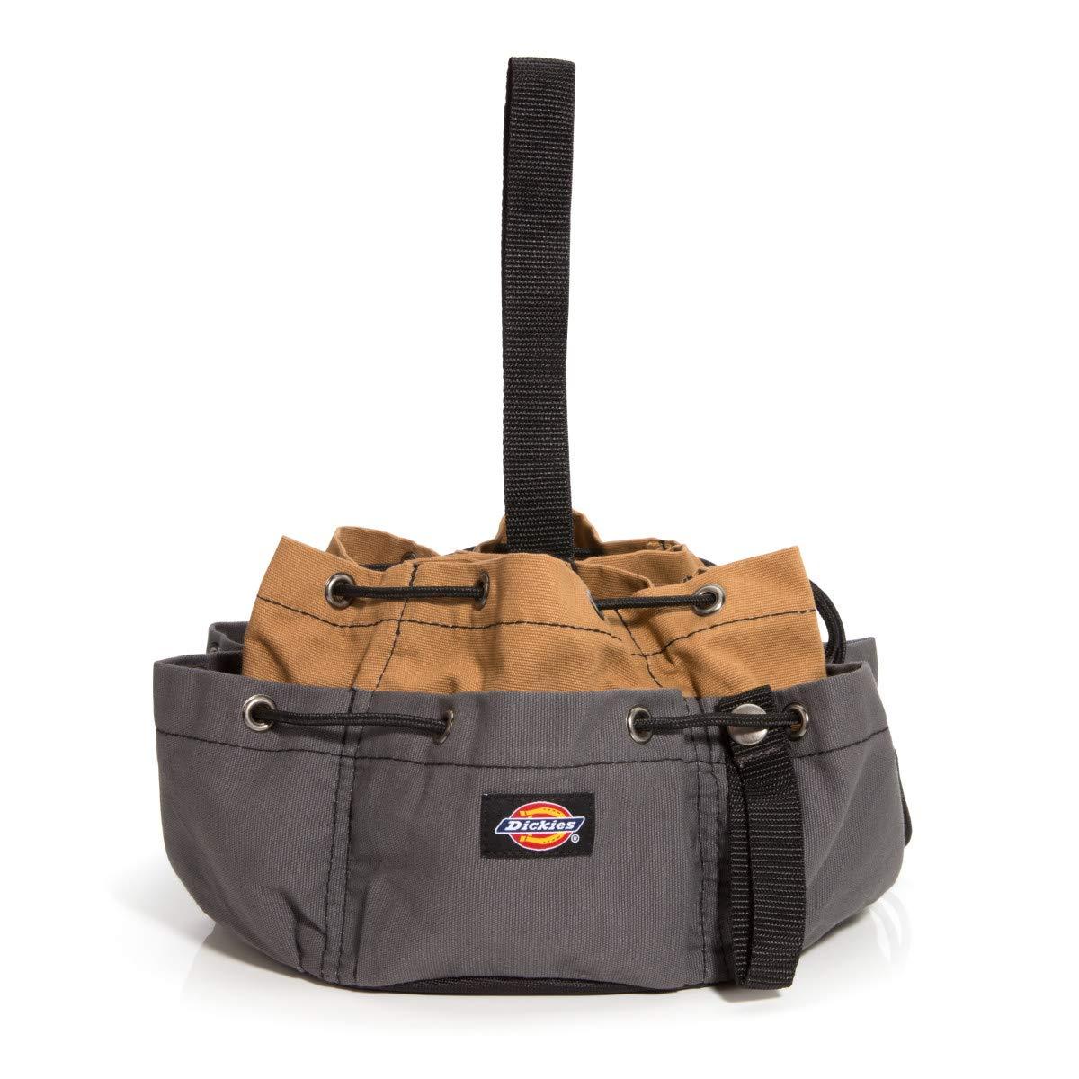 Dickies Work Gear – 12-Pocket Parachute Style Bag – 57004 – Grey/Tan Parachute Work Bag – Tool Bag – Construction – Snap-Secured Tape Strap – 8.8 oz.