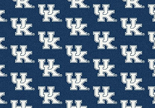 American Floor Mats Kentucky Wildcats NCAA College Repeating Team Area Rug 5'4