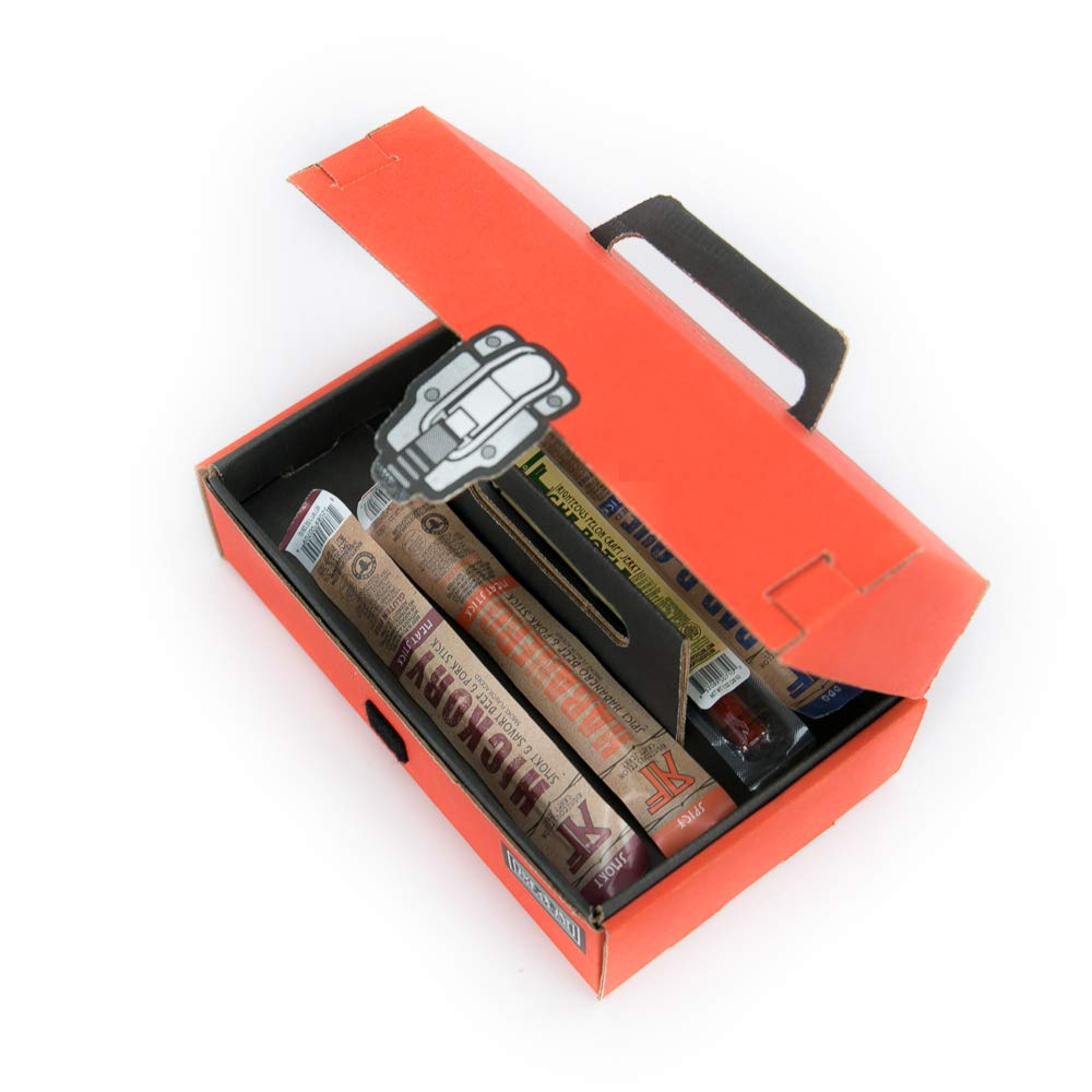 Man Crates Jerky Tool Box - Unique Gift For Men - Includes 14 Delicious Beef Jerky Flavors - In A Delightfully Surprising Tool-Shaped Box by Man Crates (Image #9)