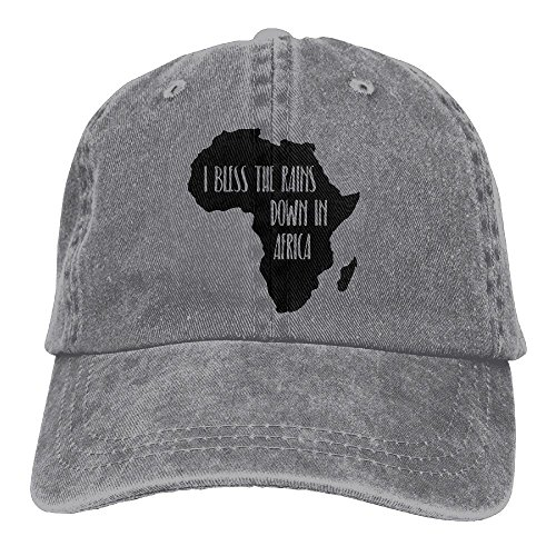 I Bless The Rains Down in Africa Unisex Baseball Cap Cotton Denim Adjustable Outdoor Sports Cap for Men Or Women by TUYAHAT