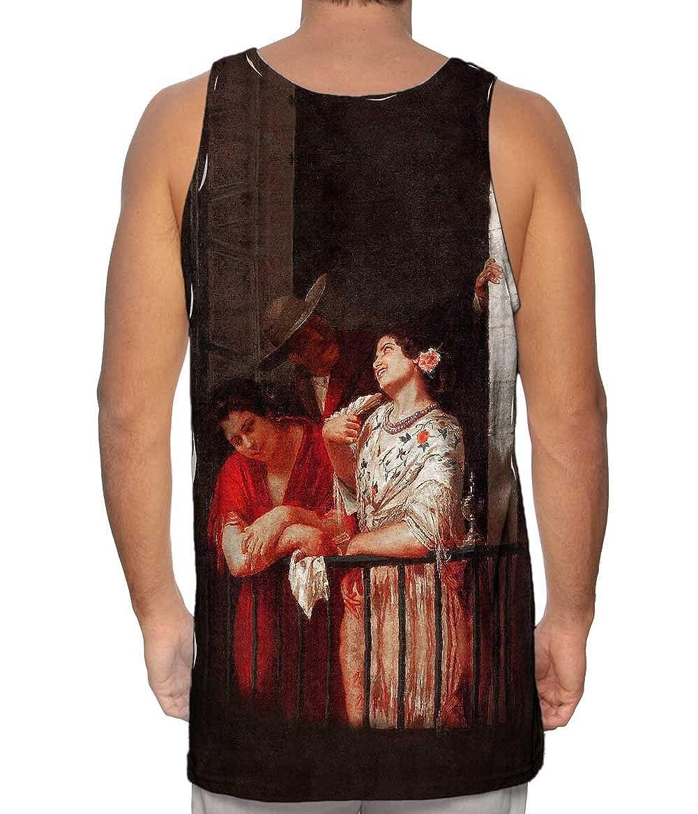 Yizzam Mary Cassatt Mens Tank Top 2591 The Flirtation .-Tshirt
