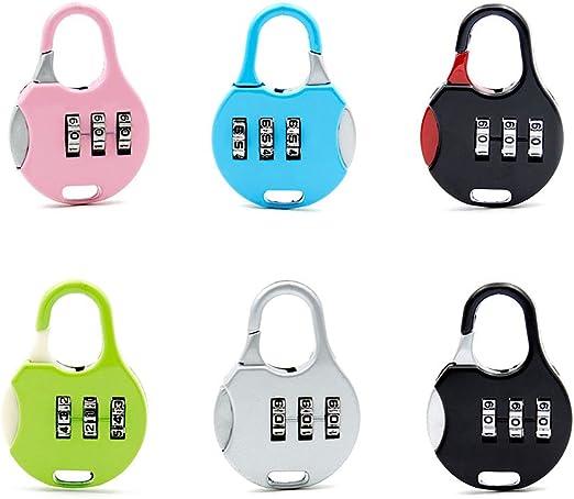 Zhi Jin 6 Pack Viajes combinación cerradura gimnasio puertas ...