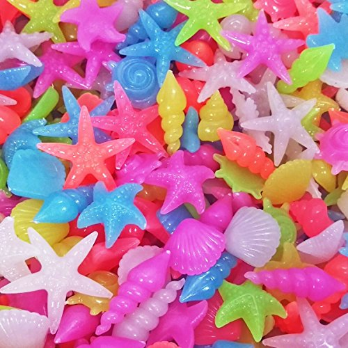 - Colorful Aquarium Decorative Pebble Stones, SpringSmart Glow in the Dark Rocks for Garden, Yard, Fish Tank, Fish Bowl, Vase, Handmade Crafts Decoration, Mixed Color Luminous Gravels