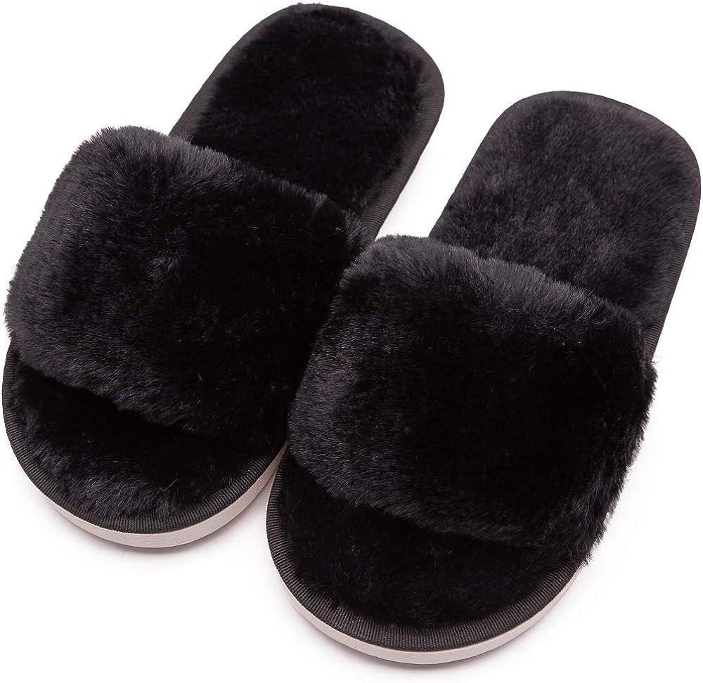 Boys Girls Fuzzy House Slippers Cute