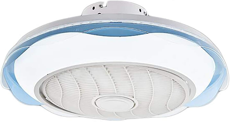 ZMLG Ventilador de Techo con Luz y Mando a Distancia Infantil 3 Colores Regulables Lámpara de Techo Ventilador Silencioso Velocidad del Viento Ajustable Fan APP Temporizador,Ø52CM,80W,Azul