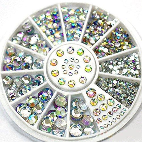 UNKE Great Mixed DIY Size Glitter Rhinestones Charm 3D Nail Art Decor Accessories