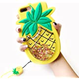iPhone 6 Plus Liquid Case, Cute 3D Soft Feeling Silicone Cover Case for Apple iPhone 6 Plus / 6s Plus Unique Creative Phone Case for Kids Teens Girls Boys (Pineapple 1)