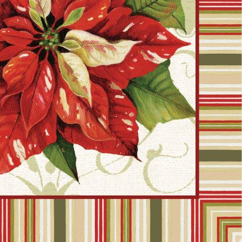 - Christmas Poinsettia Luncheon Napkins (16ct)