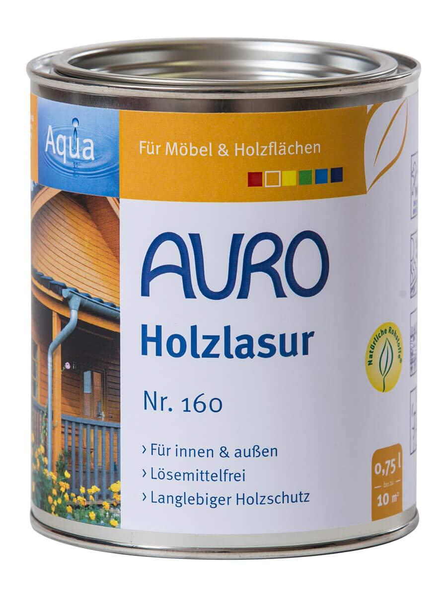 AURO Holzlasur Aqua Nr. 160-90 Weiß , 0,75 Liter