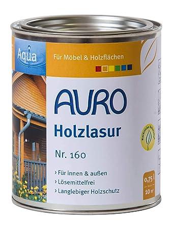 Auro Holzlasur Aqua Nr 160 90 Weiss 0 75 Liter Amazon De Baumarkt