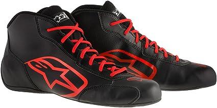 Chaussures Alpinestars Tech-1 K Start 18 Blanc Noir Rouge 35