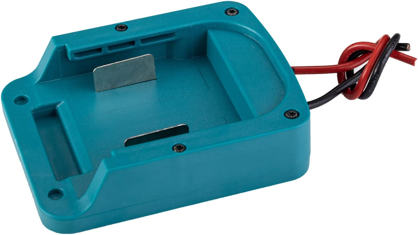Fit for MAKITA 18V Battery Power Mount Connector Adapter with Switch Dock Holder with 12 awg Wires