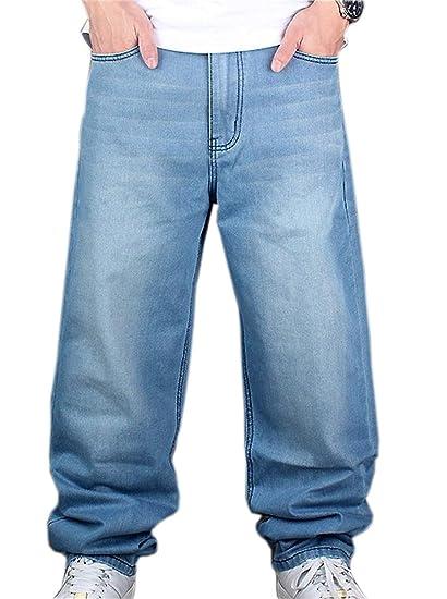 37a8523c89186 Pantalones De Mezclilla Hip Hop De Hombre Hellbalu Moda Pantalones De  Mezclilla Estilo Holgado Hugh De Rap Pantalones Ocasionales De Mezclilla  Pantalones De ...
