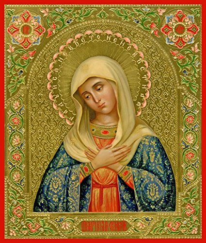 Mother of God ''Tenderness'' Traditional Panel Russian Orthodox icon by Orthodox Christian Supply