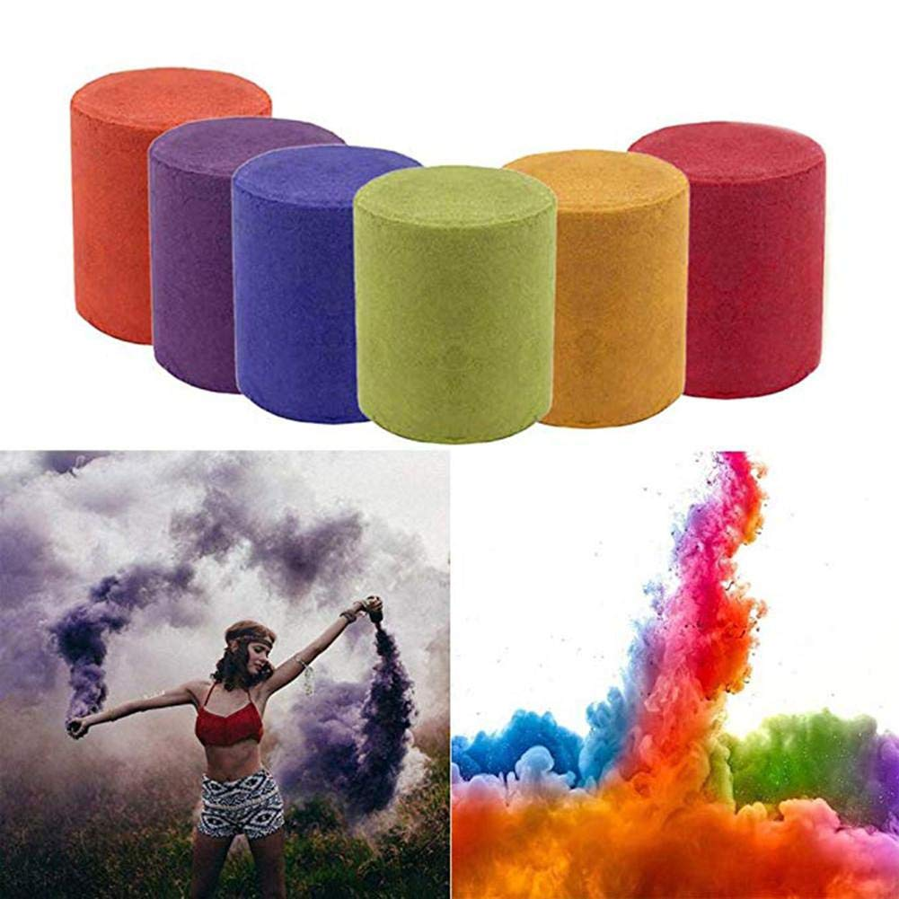 5pcs Colorful Smoke Magic Fun Toy Accessories Fireworks Scene Background Photography Props Magic Smoke Cake Color Random by Santree (Image #1)