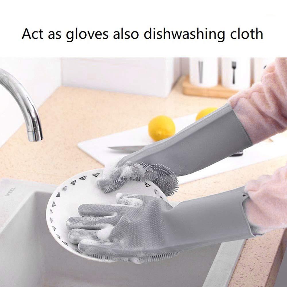 Magic Silicone Scrubbing Gloves
