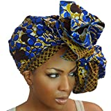 #8: The Urban Turbanista Head Wrap -Extra Long African Wax Print Headwrap Scarf Tie