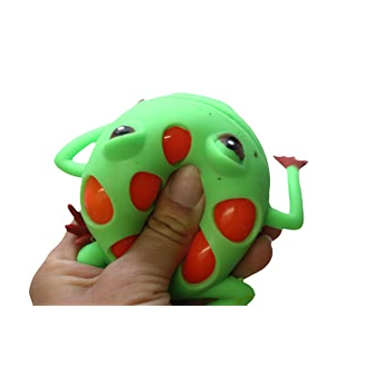 Curious Minds Busy Bags 1 Mesh Frog with Color Changing Gel Inside Squeeze Stress Ball - Sensory, Stress, Fidget Toy - Squishy Toy: Toys & Games