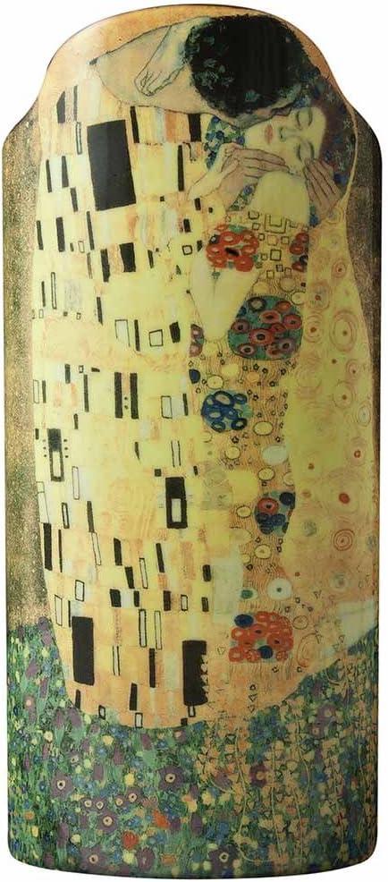 John Beswick 23 x 10 cm Klimt The Kiss Silhouette d art Vase, Multi-Colour