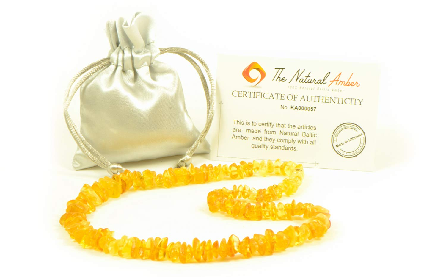 Genuine Chip Shape Baltic Amber Beads Baltic Amber Necklace for Adults Cherry 19.7inch