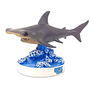 "Kollectico SWSMWS Shark Week - Hammer Head Shark Bobblehead, 6"" Long, Gray"
