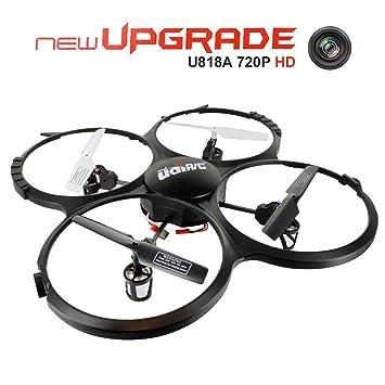 Drone con Cámara HD de 720P, UDI U818A Cuadricópteros UFO RC con ...