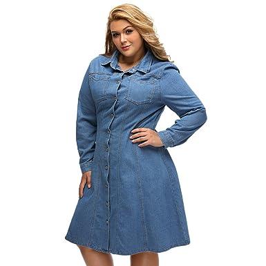 Meinice Plus Size Denim Shirt Dresssizexxxl Amazon Clothing