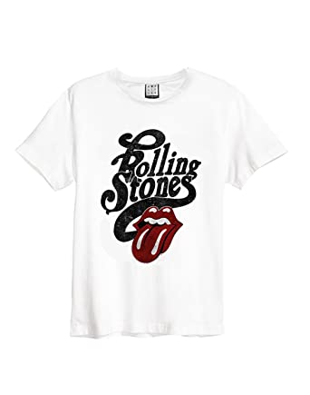 Amplified Clothing Charcoal The Rolling Stones /'Licked/' T-Shirt OFFICIAL!