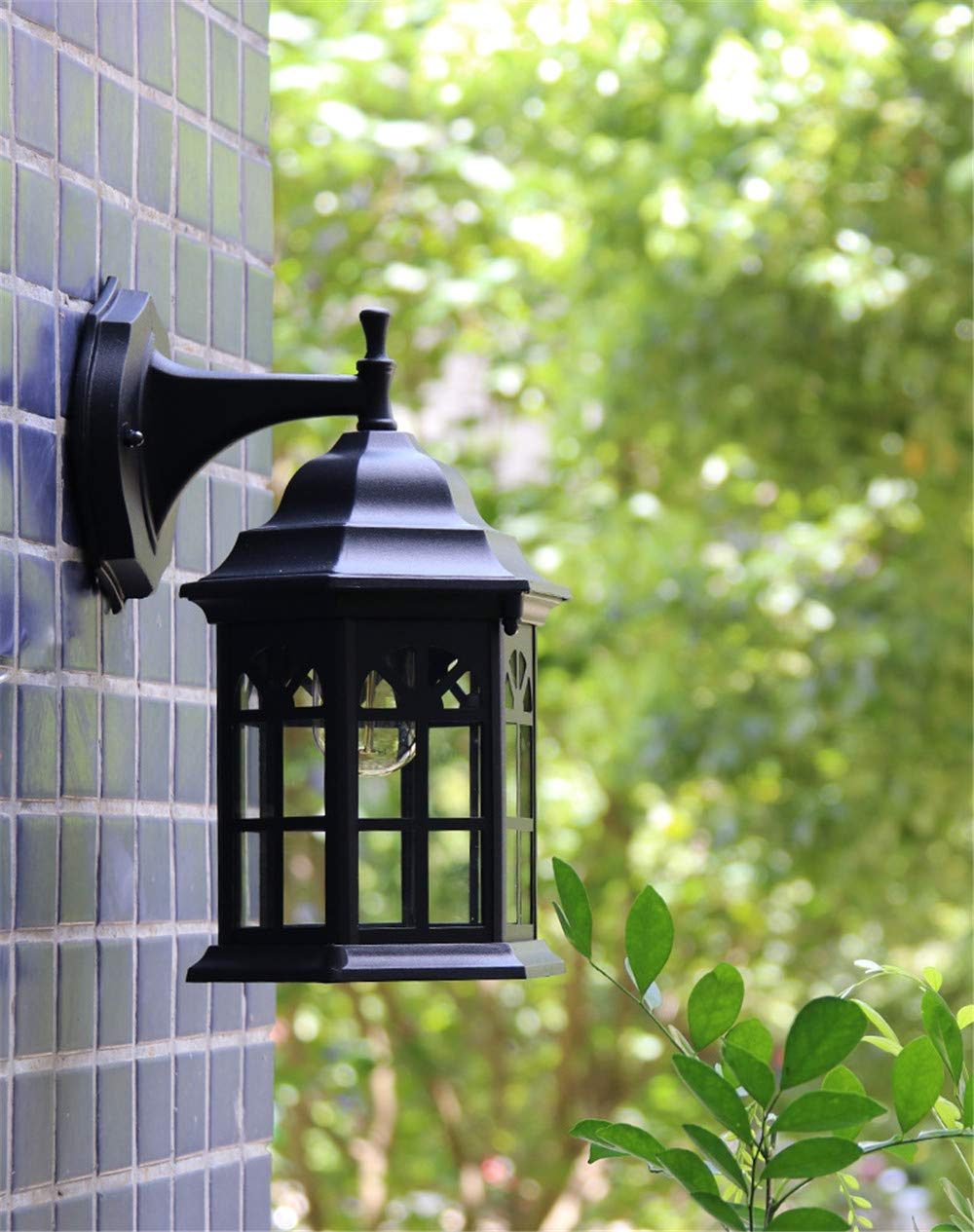HRCxue Außenwandleuchten Garten-Wandleuchte im Freien wasserdichte Terrasse Wand Lampe Villa im Freien Korridor Shop Dekoration Lampe, weiße KorrosionsBesteändigkeit