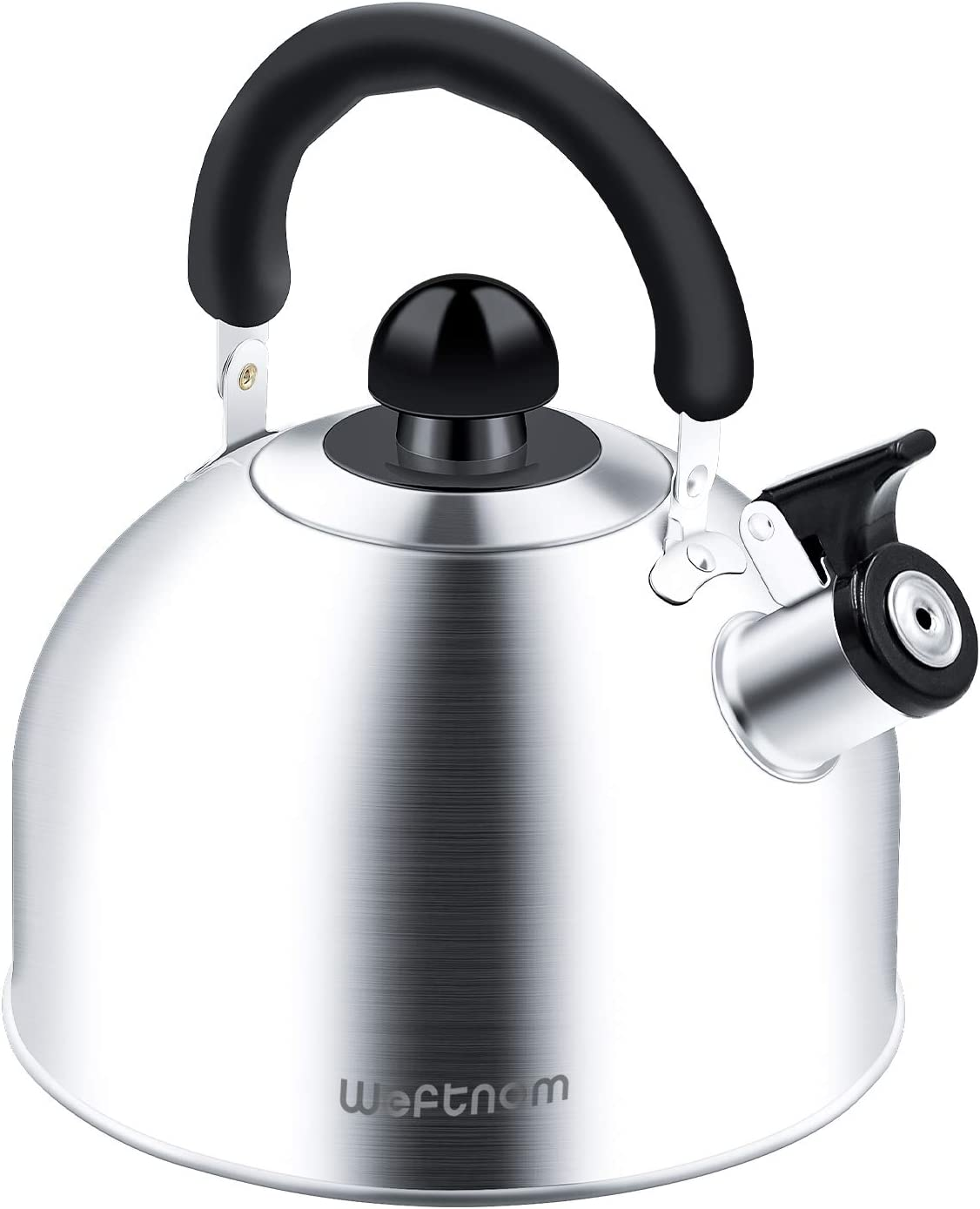Tea Kettle for Stove Top, Durable Stainless Steel Whistling Tea Kettle, Tea Pot with Ergonomic Handle, 2.3Quart Anit-scald Tea Kettle Whistling Finish for All Stoves