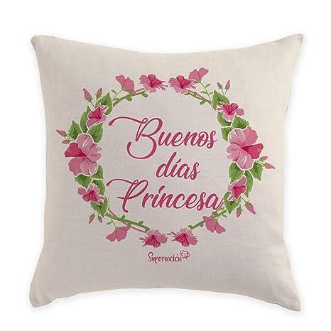 SUPERMOLON Cojín Personalizado Buenos días Princesa!: Amazon ...