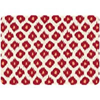 Bungalow Flooring Premium Comfort Floor Mat, 22 by 31-Inch, Ikat, Red