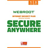 Webroot Internet Security Plus with Antivirus Protection Software   3 Device   1 Year Subscription   PC/Mac CD with…