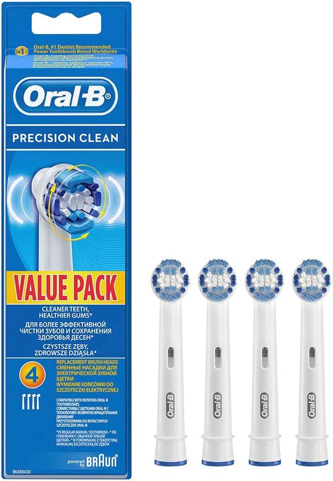 Oral-B Eb20 Pack 4 recambios para cepillo, Plástico, azul y blanco ...