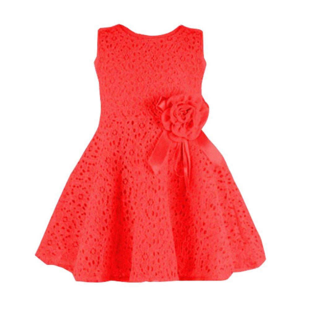 Zhengpin Girls Kids Full Lace Floral One Piece Dress Princess Party Dress