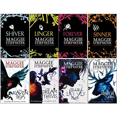 (Maggie stiefvater collection wolves of mercy falls, raven cycle series 8 books set)