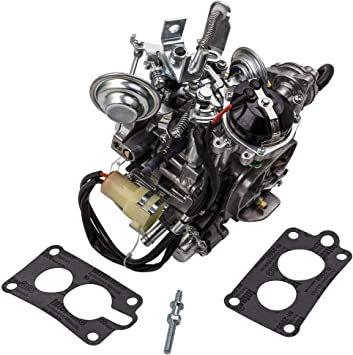 Amazon Com 2 Barrel Carburetor For Toyota Pickup 22r Engine With Round Plug Connector And Automatic Choke Toy 505 Automotive