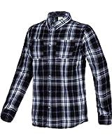 Adidas Men's Check Shirt Long Sleeve Neo Label Shirts - Black / White - S02854