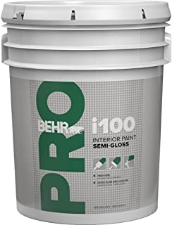 product image for Behr Pr17005 Behr Pro I100 Semi-Gloss Interior Paint White 5 Gallon