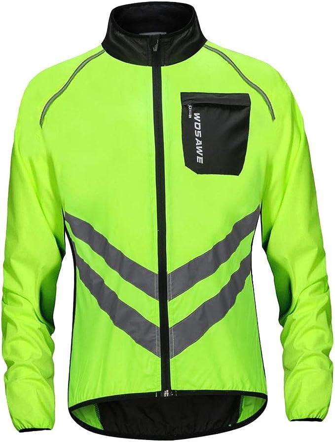 Baoblaze Herren Fahrradbekleidung Radtrikot Sport Langarmshirt Herbst Winter Fahrrad Trikot Regenjacke Langarmjacke