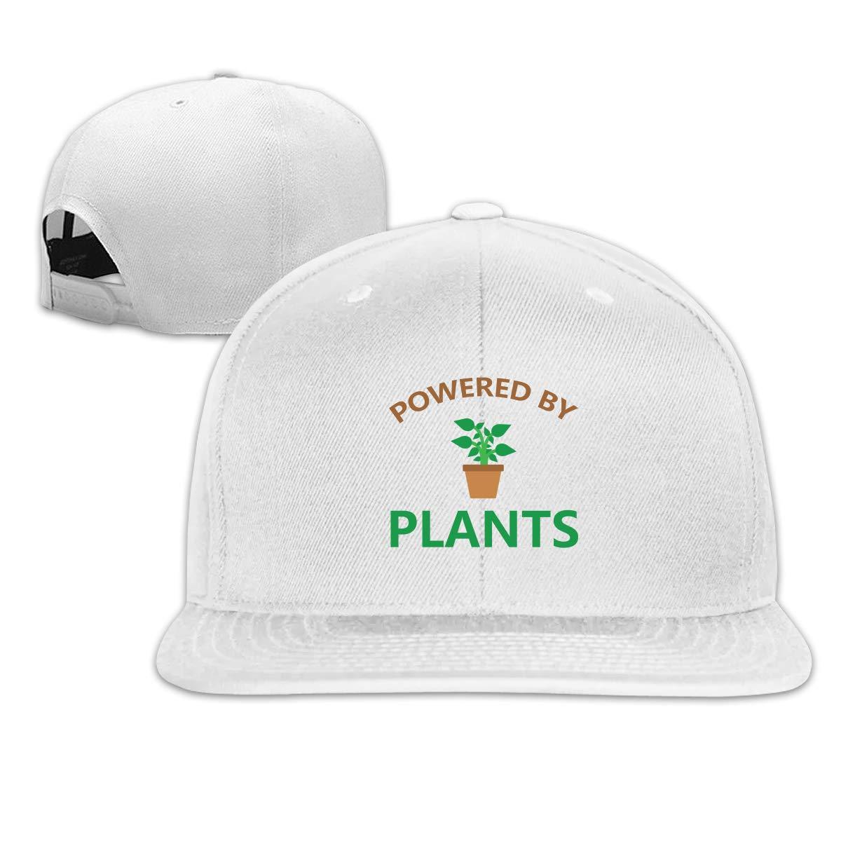 MOCSTONE Unisex Snapback Hat Powered by Plants Adjustable Baseball Cap