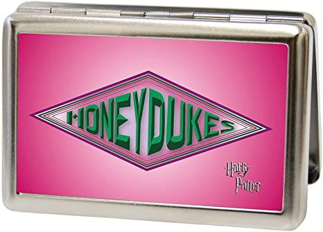 Buckle-Down Metal Wallet-Harry Potter Honeydukes Logo Fcg Pinks//Greens