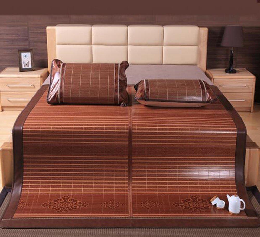 Coole Matratze Bambusmatten Matten Doppelmatten 1,5 m 1,8m Bett Wassermühle kohlensäurehaltige Spiegel hochwertig faltende Bambusmatte Coole Bambusmatte (Farbe : A, größe : 1.5m Bed)