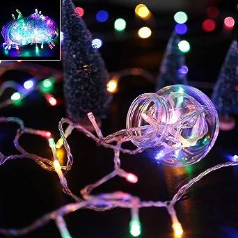 Weihnachtsbeleuchtung Tannenbaum Innen.Vingo 10m 100 Rgb Led Lichterkette Weihnachtsbeleuchtung Mischenfarbe Für Weihnachten Halloween Party Tannenbaum Innen Schaufenster
