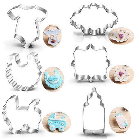 Amazon.com: Set de cortadores de galletas para baby shower ...