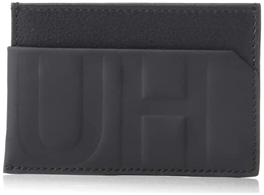newest 8ed02 d0979 Amazon.com: HUGO by Hugo Boss Men's Hero Hugo Logo Leather Card Case ...