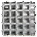 DuraGrid STGRAY, Gray Comfort Interlocking Modular Multi-Use Safety Floor Matting (Single Tile)