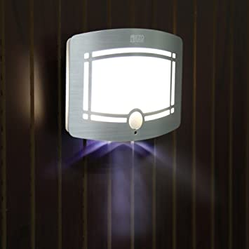EZOWare LED Luz Nocturno con Sensor de Movimiento, LED Lámpara Sensor para Jartín, Habitación